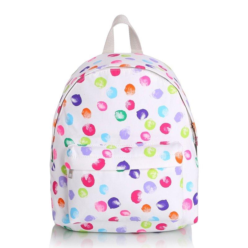 Trend Pastel Colorful Canvas Elegant Girls Preppy School Backpack ...