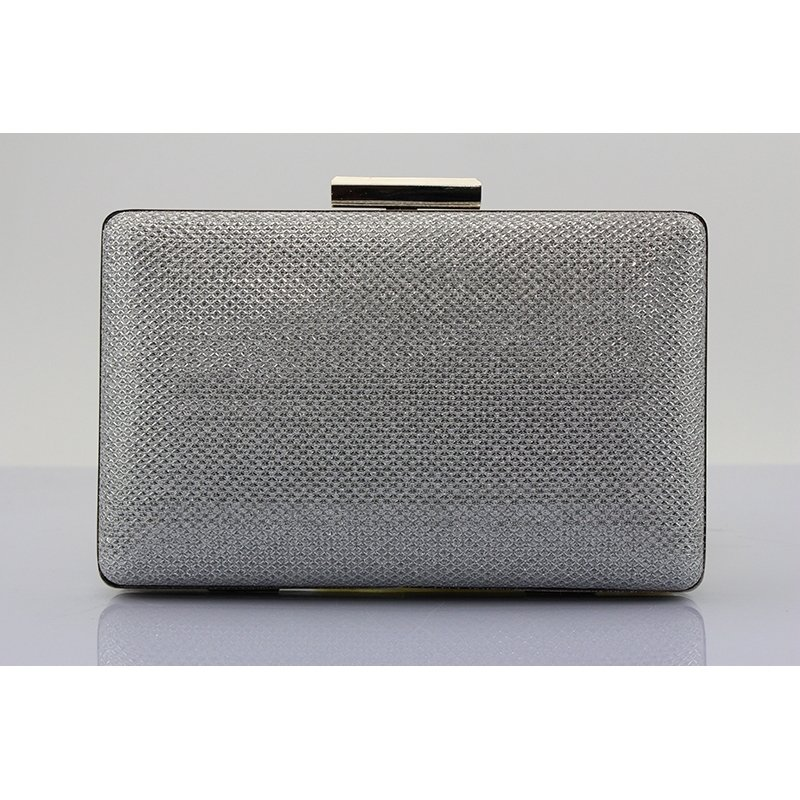 Luxury Gray Faux Leather Sequin Women Mini Evening Party Clutch Vintage Lock Closure Chain Bride Wedding Crossbody Shoulder Bag