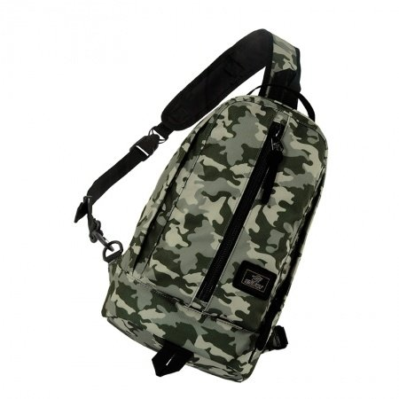 Army Green Gray and Beige Polyester Boys Crossbody Shoulder Chest Bag Military Camouflage Print Casual Travel Hiking Sling Backpack