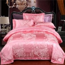 Pastel Style Soft Pink Floral Pattern Modern Chic Cute Girly Feminine Feel Beautiful Full, Queen Size Bedding Sets