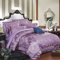 Girls Royal Purple and Rose Gold Fancy Noble Excellence Exotic Unique Feminine Feel Full, Queen Size Bedding Sets