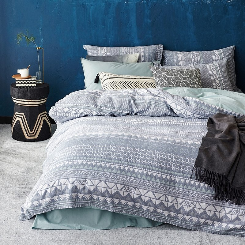 Gray White And Sage Green Aztec Tribal, Sage Green And Gray Bedding
