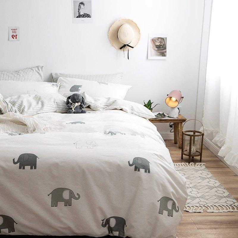 Cartoon Elephant Cute Animal Kids Teen Boys Twin Full Size Bedding Sets Enjoybedding Com