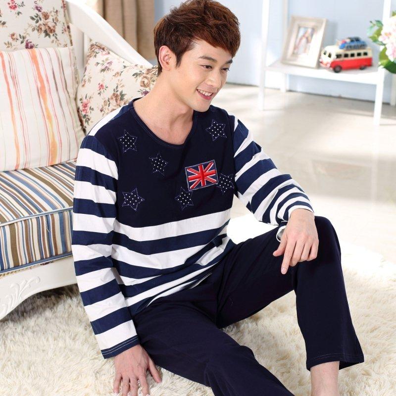 The American Flag Print Shirt and Trousers Men Boys Pajamas L XL XXL