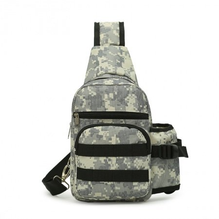 Army Green Gray and Beige Oxford Men Crossbody Shoulder Chest Bag Military Camouflage Print Casual Travel Hiking Tactical Sling Backpack
