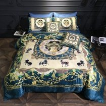 Luxury Mid Century Royal Style Indian Pattern Full, Queen Size Bedding Sets