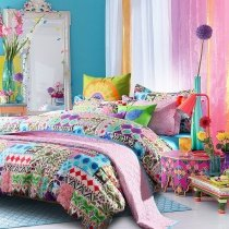 Bright Colorful Bohemian Indiana Tribal Print Luxury and Modern Full, Queen Size Bedding Sets