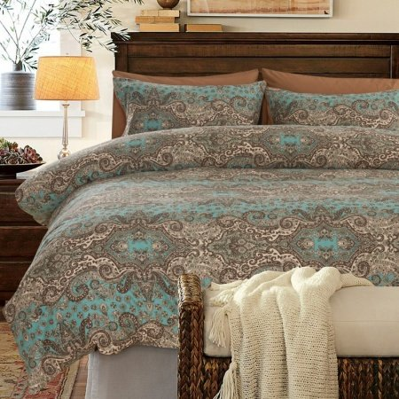 Turquoise Brown And Khaki Classic Baroque Style Shabby