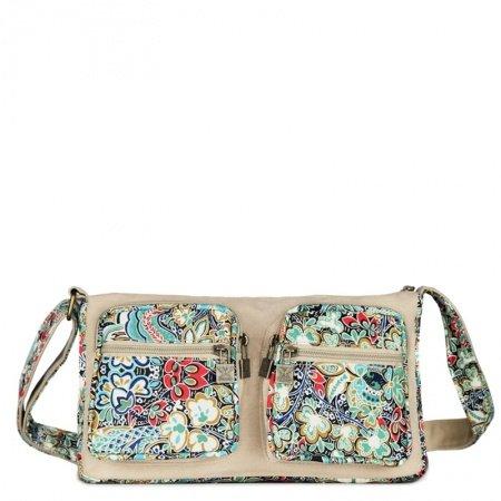 Durable Vintage Canvas Zipper Casual Women Messenger Bag Stylish Colorful Bohemian Indian Style Rustic Floral Crossbody Shoulder Bag