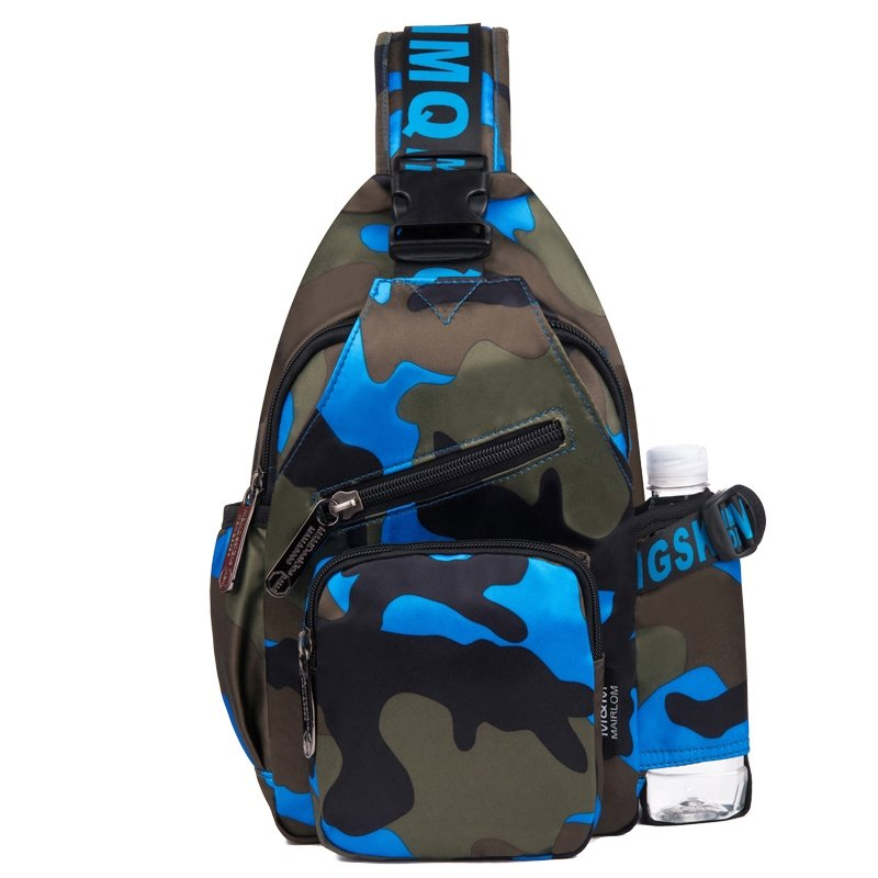 Durable Oxford Cool Women Crossbody Chest Bag Stylish Personalized Military Colorful Camouflage Casual Travel Hiking Sling Backpack