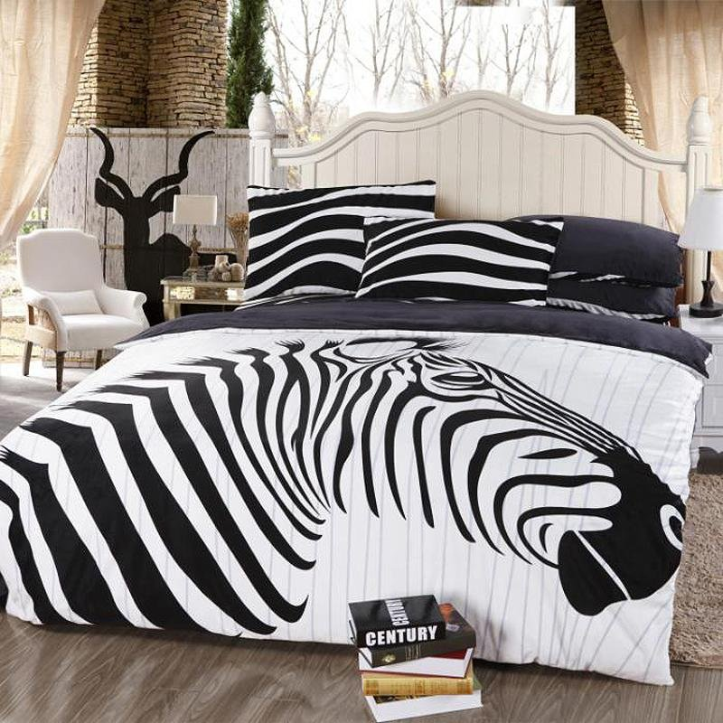 Black And White Jungle Animal Themed Zebra Print Full Size