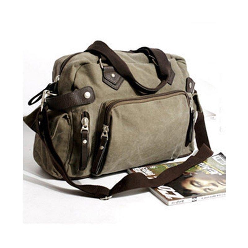 Light Tan Vintage Chic Canvas Messenger Bag Contracted Casual Amazing Satchel High Fashion Zipper Men Medium Single Shoulder Crossbody Bag