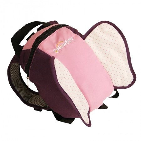 Personalized Butterfly-shaped Cute Animal Toddler Small School Backpack Pink Plum-purple Stylish Kids Preppy Book Bag for Girls