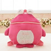 Personalized Cute Marine Animal Fish-shaped Cartoon Toddler School Backpack Coral Red White Cool Kids Preppy Book Bag for Girls