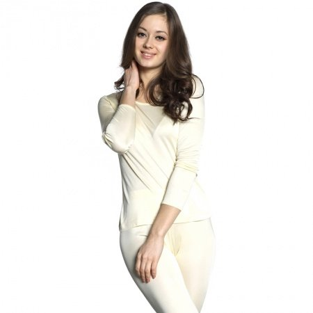 Pale Yellow 100% Real Silk Knitwear Long Underwear Suit Luxurious Comfortable Pajamas for Feminine Girly M L XL