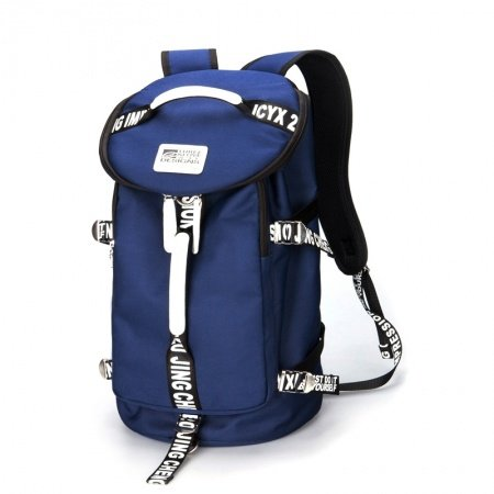 Durable Royal Blue Oxford Men Crossbody Shoulder Duffle Bag Hipster Monogrammed Korean Style Flap Bucket-shaped Travel Backpack