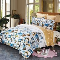 Royal Blue Copper Black and White City Chic Shabby Chic Stylish Twin, Full, Queen Size Bedding Sets
