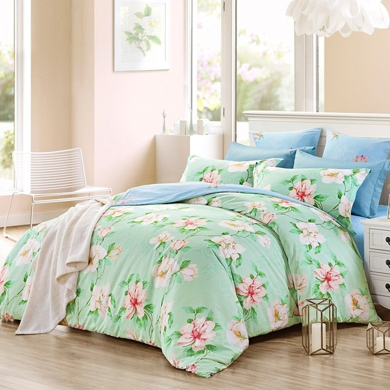 Tropical Rustic Chic Pink And Mint, Pink And Mint Twin Bedding