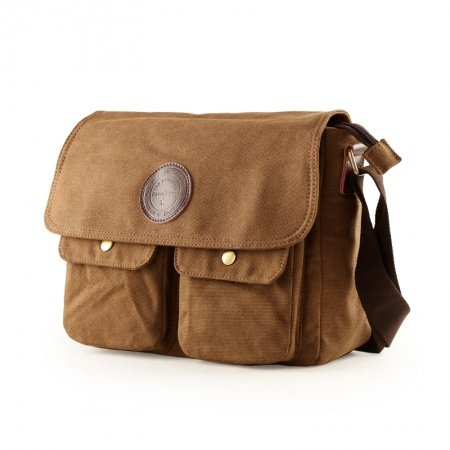 Coffee Brown Canvas Casual Sport Men National Modern Chic 10 Inch Laptop Bag Applique Sequined Take Cover Zipper Medium Crossbody Travel Bag