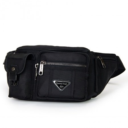 Solid Black Oxford Crossbody Chest Pack Mitoshop Casual Sport Waist Pack Outdoor Travel Sewing Pattern Men Small Bosom Bag