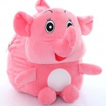 Personalized Elephant-shaped Kids School Backpack Stylish Coral Pink  Cute Animal Durable Trendy Cool Fine Toddler Small Book Bag