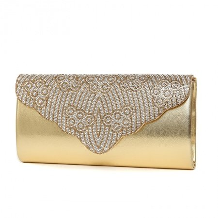 Metallic Gold Patent Leather Lady Casual Party Flap Evening Clutch Wallet Hipster Western Bling Rhinestone Crossbody Shoulder Bag