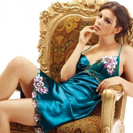 Leopard Blue Flower Embroidered Midi Camisole Dress Romantic Fashion Pajamas for Girls M L XL XXL XXXL