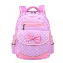 Lavender Patent Leather with Pink Trim Quilted Flap School Backpack Boutique Cute Bow Sewing Pattern Girls Preppy Campus Book Bag