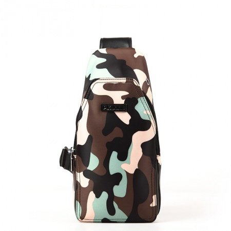Oversized Colorful Nylon Boys Crossbody Shoulder Chest Bag Personalized Military Camouflage Print Travel Hiking Cycling Sling Backpack