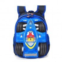 Personalized Black and Blue Oxford Boys Pupil Preppy School Book Bag Cool Racing Car-shaped Kids Campus Backpack