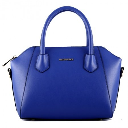 Luxury Solid Color Royal Blue Cowhide Leather Wings Shaped Zipper Vogue Women and Lady Medium Single Shoulder and Crossbody Tote Bag