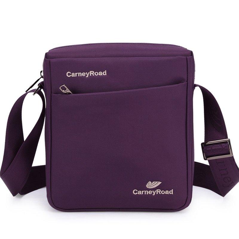 Solid Violet with White Monogrammed Vogue Trendy Oxford Crossbody Shoulder Bag Sewing Pattern Women Small Messenger Bag