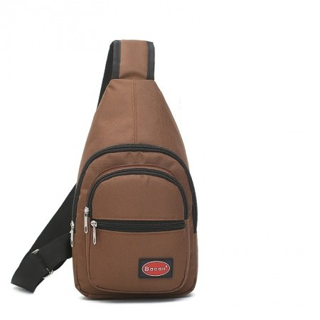 Vintage Coffee Brown Oxford Masculine Men Crossbody Shoulder Chest Bag Trend Sewing Pattern Small Casual Travel Hiking Sling Backpack