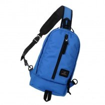 Sky Blue Polyester Boys Medium Crossbody Shoulder Chest Bag Durable Sewing Pattern Zipper Casual Travel Hiking Cycling Sling Backpack