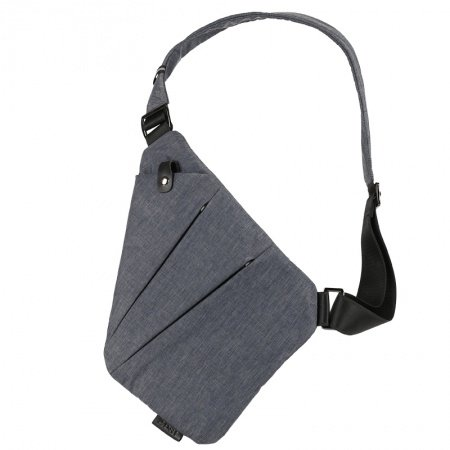 Vintage Gray Waxed Canvas Masculine Men Small Crossbody Shoulder Chest Bag Trend Anti Theft Zipper Travel Hiking Cycling Sling Backpack