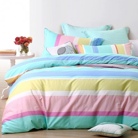 Pastel Turquoise Purple Pink White, Teal And Purple Ombre Bedding