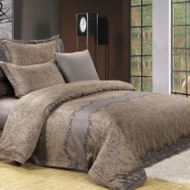 Gorgeous Brown Jungle Safari Themed Paisley and Tribal Print Shabby Chic Retro Style 100% Egyptian Cotton Bedding Sets