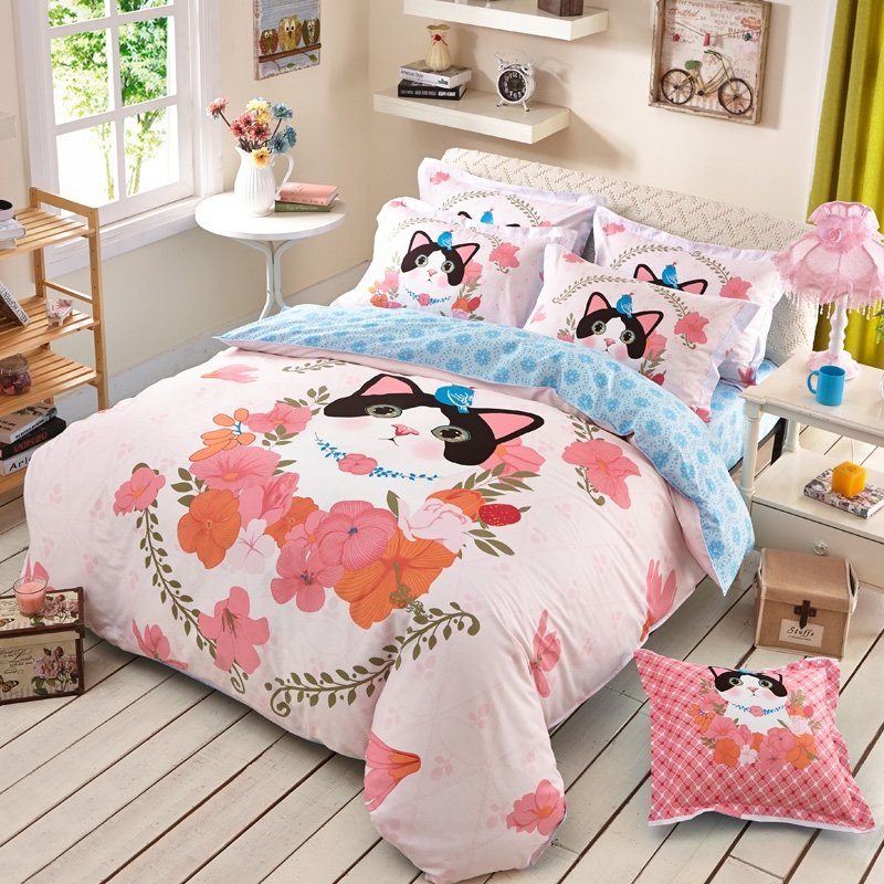 ac girls by com no chemicals bed bedding amazon unicorn set dp cases comforter twin kmz princess magic size microfiber