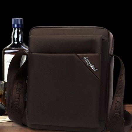 Maroon Brown Oxford Contracted Men Business Messenger Bag Casual Mitoshop Sewing Pattern Men Medium Crossbody Shoulder Bag