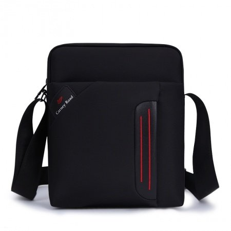 Solid Black Contracted Durable Oxford Messenger Bag Fashion Japanese Style Quilted Men Boys Small Crossbody Shoulder Bag