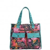 Gorgeous Colorful Canvas Casual Women Diaper Tote Bag Stylish Sewing Pattern Personalized Bohemian Western Floral Shoulder Handle Bag