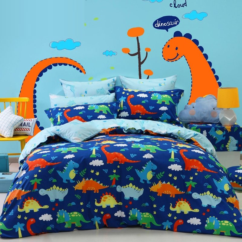 Queen Size Bedding Sets For Kids Boys, Queen Size Dinosaur Bedding Set