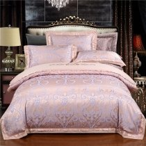 Boutique Rose Gold and Silver Renaissance Pattern Indian Inspired Vintage Style Embroidered Full, Queen Size Bedding Sets