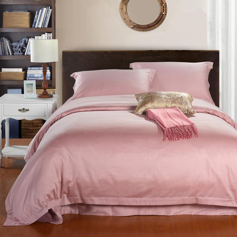 solid pink pure color simply chic egyptian cotton full queen size girls bedroom bedding sets. Black Bedroom Furniture Sets. Home Design Ideas