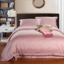 Solid Pink Pure Color Simply Chic Egyptian Cotton Full, Queen Size Girls Bedroom Bedding Sets