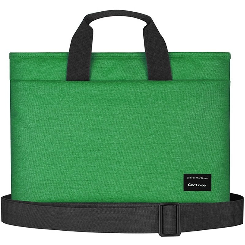Solid Pigment Green Casual Business Briefcase Purse Contracted High Fashion Zipper Unisex Medium 13.3 Inch Laptop Tote Bag for Women and Men