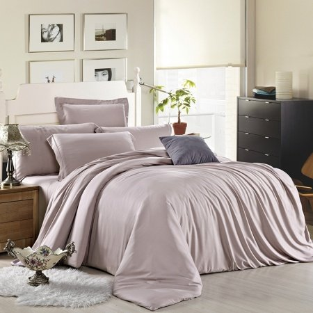Thistle Plain Colored Noble Excellence Luxury Classic Simply Chic Personalized Adult 100% Tencel Full, Queen Size Bedding Sets