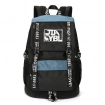 Hippie Style Oxford Cool Stylish Sewing Pattern Travel Backpack Black White Blue Monogrammed Preppy Style Junior School Bag