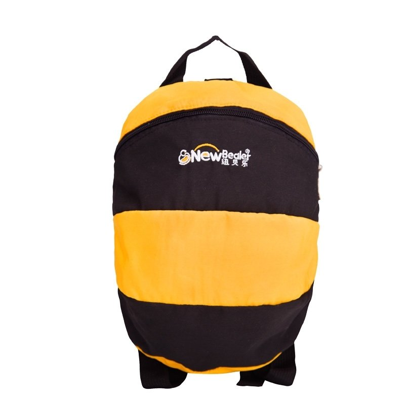 Personalized Cute Animal Bee-shaped Toddler Small Book Bag Black Yellow Stylish Cool Kids Preppy School Backpack for Girls Boys