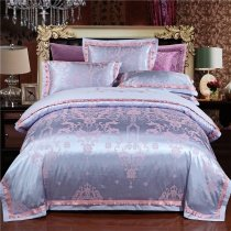 Steel Blue and Rose Gold Ethnic Pattern Indian Bohemian Style Luxury Western Royal Style Full, Queen Size Bedding Sets